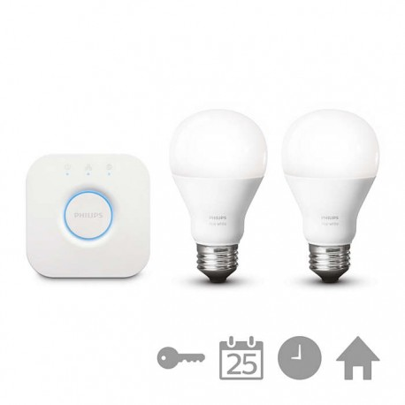 Sistem de iluminat personalizat Philips Hue White 9W A19 E27 set EUR