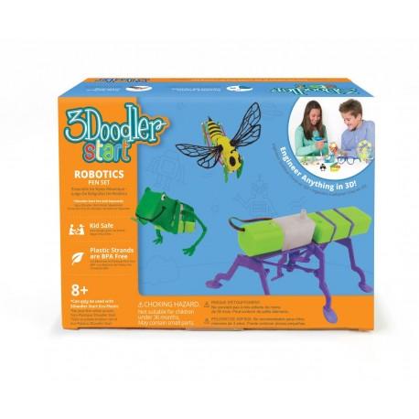 Stilou 3D si kit robotica 3Doodler Start pentru copii