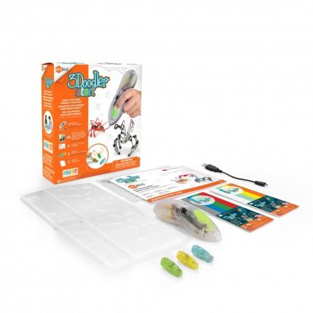 Creion 3D 3Doodler Start si kit MicroRobotica HexBug pt copii